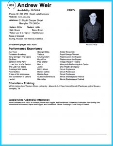 Acting Resume Template for Microsoft Word - 37 Awesome Acting Resume format