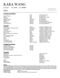 Acting Resume Template No Experience - Musical theatre Resume Luxury 50 Inspirational theatre Resume