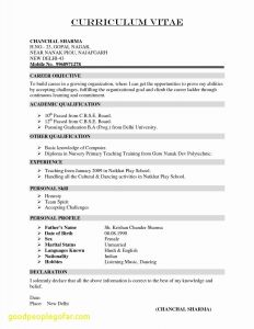 Acting Resume Template No Experience - Actor Resume Template New Sample Cv Template Luxury Cfo Resume