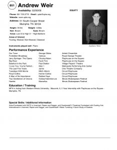 Acting Resume Template Pdf - Beautiful theater Resume Example