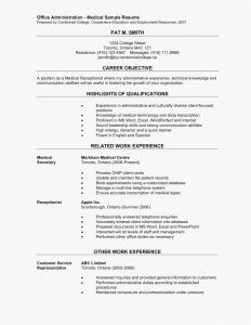 Acting Resume Template Word - Examples Resumes Fresh Resume Examples Pdf Best Resume Pdf 0d