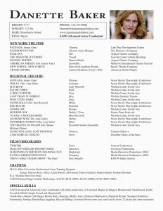 Actor Resume Template Free - 21 Free theatre Resume Example Example