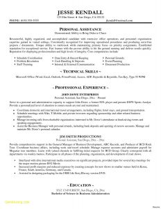 Administrative assistant Resume Template Microsoft Word - Personal assistant Resume Sample New Resume Samples Doc New
