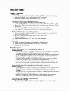 Apache Resume Template - Microsoft Fice Sample Resume Refrence Perl Resume Sample Unique
