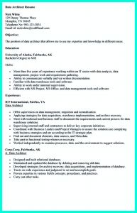 Architecture Resume Template - In the Data Architect Resume One Must Describe the Professional