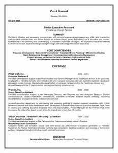 Assistant Manager Resume Template - Executive assistant Resumes Unique Resume Template Executive