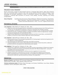 Attorney Resume Template - Lovely Legal assistant Resume Template Adsril
