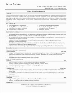Auburn Resume Template - Sample Resume for Human Resources Manager Awesome Sample Hr Resume
