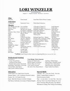Audition Resume Template - Music Resume Template Best Music Resume Template Beautiful Best