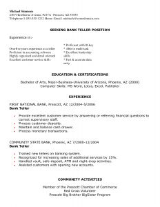 Bank Teller Resume Template - Pin Oleh Jobresume Di Resume Career Termplate Free