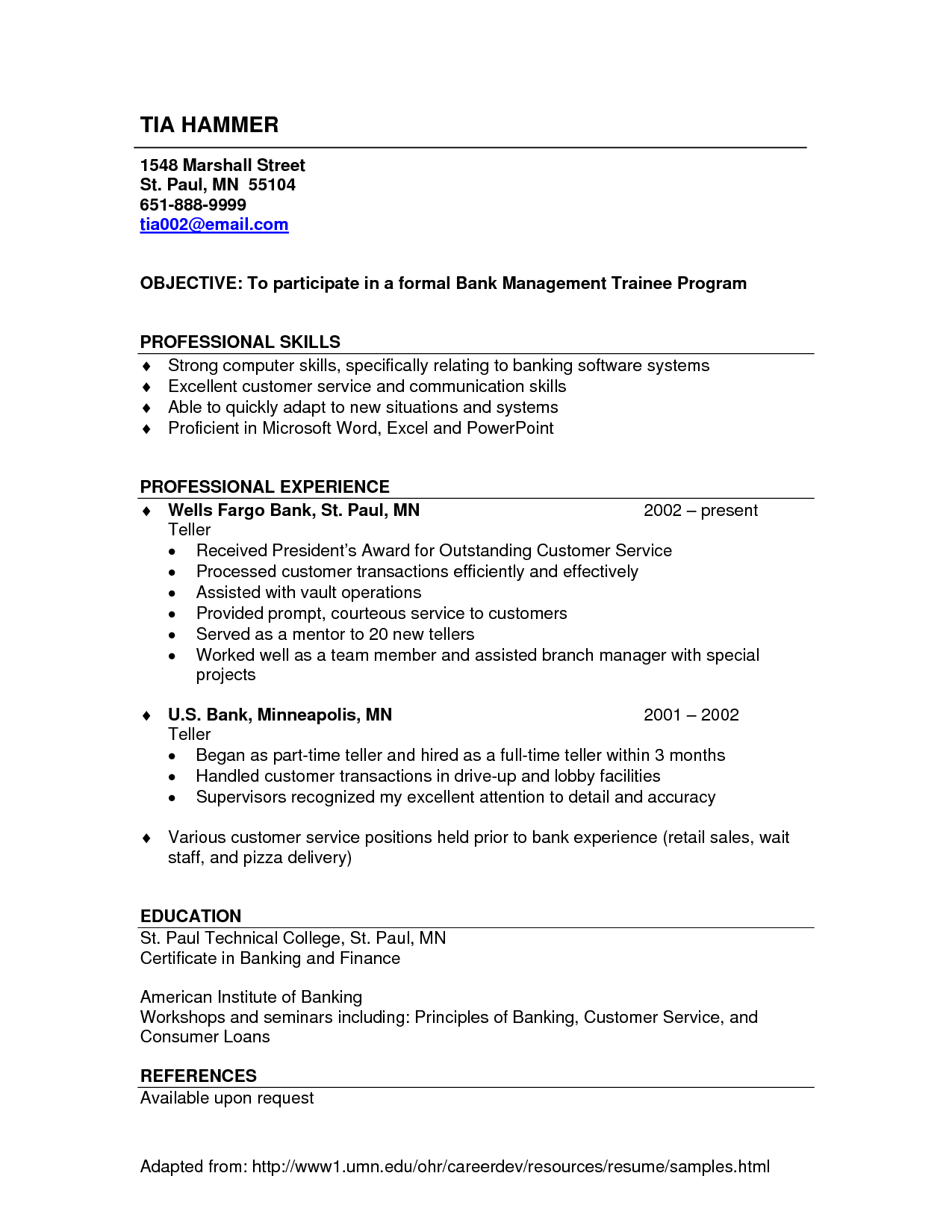 bank teller resume template Collection-Resume Examples Bank Teller examples resume ResumeExamples teller 7-q