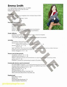 Basketball Resume Template - 20 How to Make A Resume Template