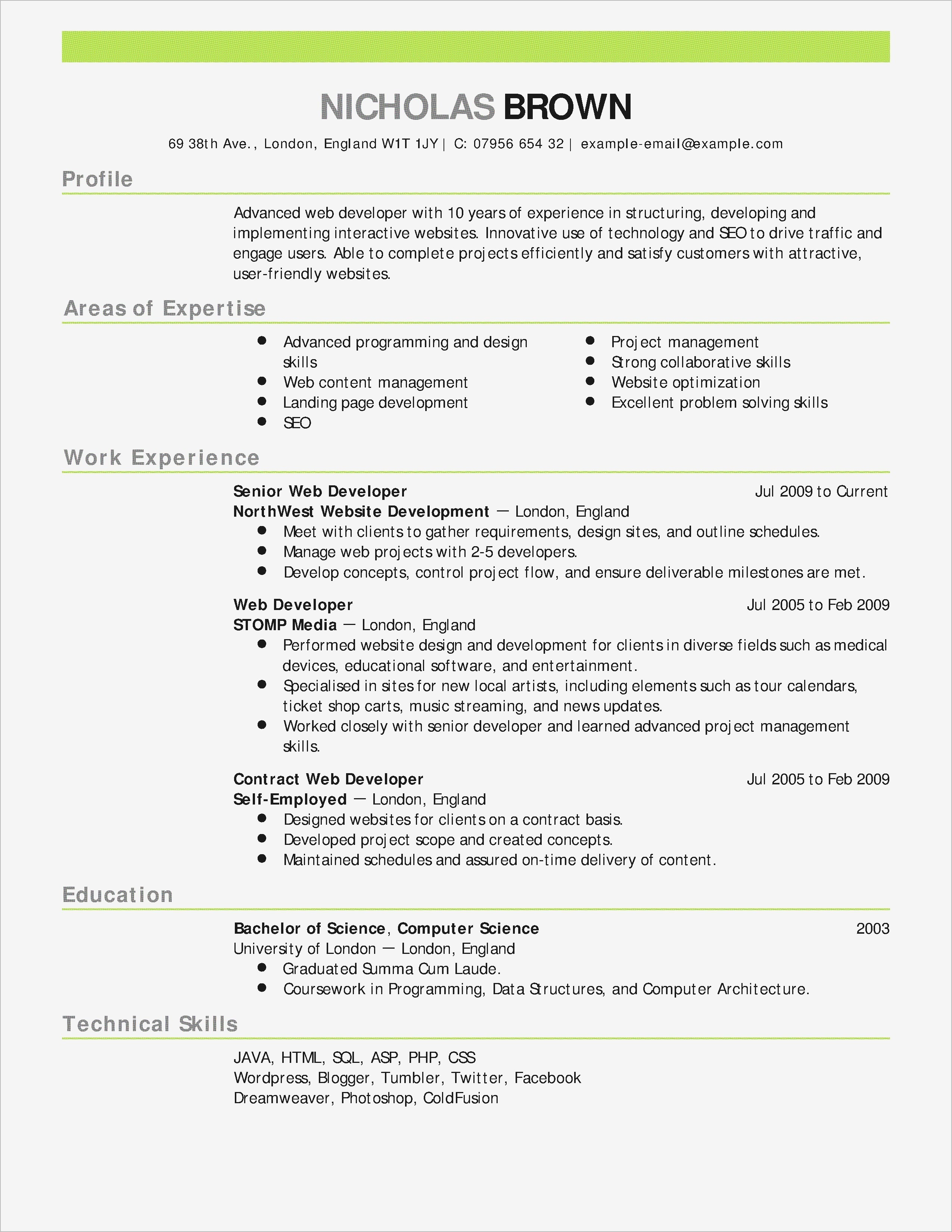 blogger resume template example-Elegant Free Resume Template for Word 9-i