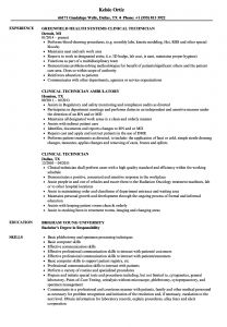 Byu Marriott School Resume Template - Clinical Technician Resume Samples