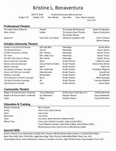 Child Acting Resume Template - 24 Actors Resume Template