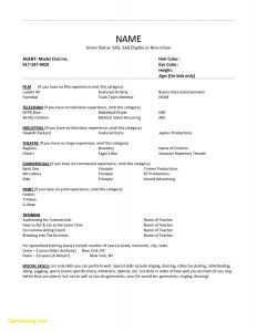 Child Acting Resume Template No Experience - 20 Kids Acting Resume