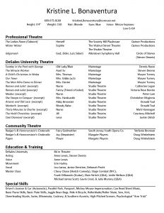 Child Acting Resume Template No Experience - Acting Resume format Free Downloads Actor Resume Examples Actor