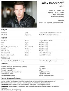 Child Actor Resume Template - Child Acting Resume Sample Fresh Child Actor Resume Awesome Child