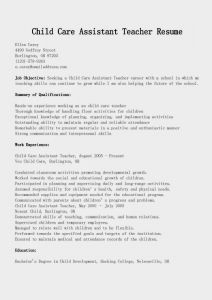 Child Care Resume Template - Child Care Resume Examples Unique Child Care Resume Sample Unique