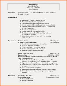 Child Resume Template - Early Childhood Education Resume Samples New Teacher Resume Example