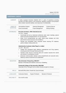 Chinese Resume Template - 23 Best Sample Cover Letter for Administrative assistant format