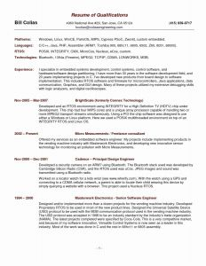 Chronological order Resume Template - Resume order Sections Experience Section Resume Inspirational