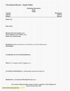 Chronological Resume Template Pdf - What Should Be A Resume for A Teenager Valid Unique Resume for