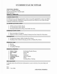 Chronological Resume Template Pdf - the Latest Resume format Sample Pdf Example A Chronological Resume