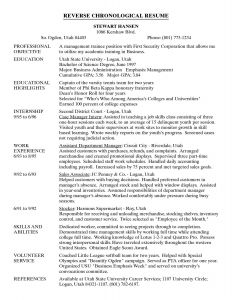 Chronological Resume Template Pdf - Chronological order Resume Example Refrence Chronological Resume