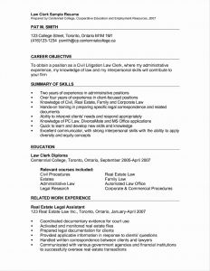 Clerical Resume Template - Real Estate attorney Resume Best Clerical Resume Sample top Law