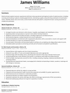 Clerical Resume Template - Resume Examples for Medical assistant 2018 Medical Resume Samples