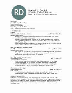 Cmu Resume Template - Public Relations Resume