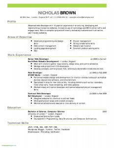 Cmu Resume Template - Federal Style Resume New Resume Template Samples Nanny Resume Sample