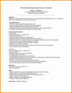 Cna Resume Template Microsoft Word - Sample Resume for Cna with Objective Example Resume Additional