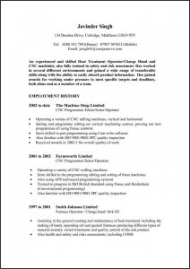 Cnc Machinist Resume Template - Cnc Machinist Resume Fresh Resume Templates Free Resume Templates