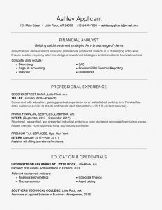 College athlete Resume Template - Entry Level Finance Cover Letter and Resume Samples