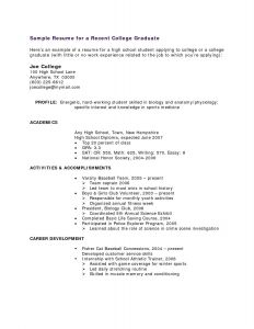 College athletic Resume Template - 16 Student athlete Resume
