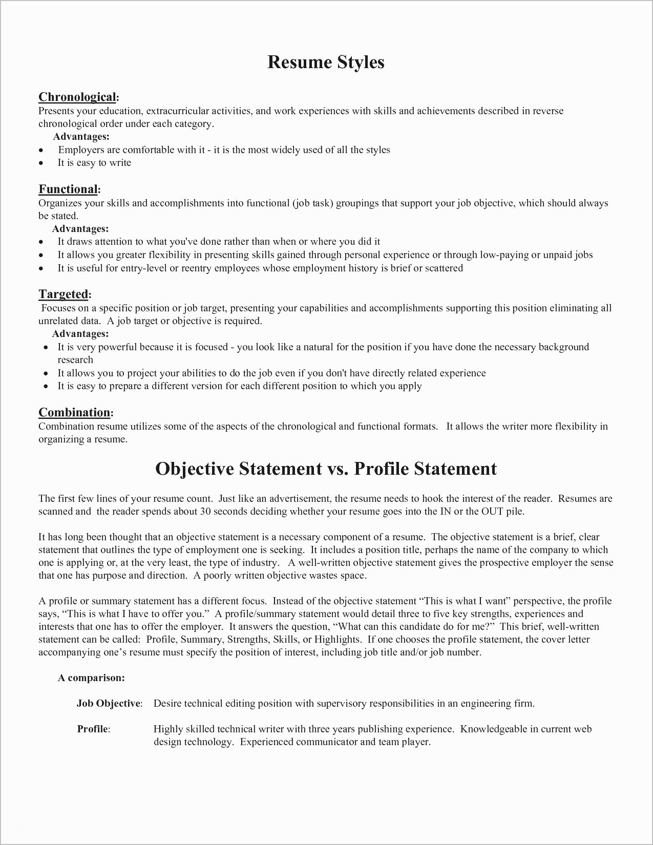 combination resume template for stay at home mom example-Example A bination Resume New Unique Examples Resumes Ecologist Resume 0d Resume Opening Statement bination 7-b