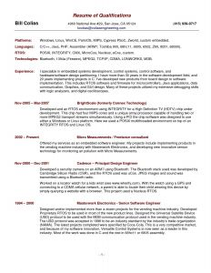 Computer Engineer Resume Template - Free Resume Template Summary Qualifications