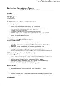 Construction Superintendent Resume Template - Construction Superintendent Resume Templates Cool Construction