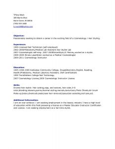 Cosmetology Resume Template - 18 Unique Cosmetology Resume Templates