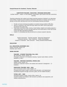 Daycare Resume Template - Resume Sample for Teachers