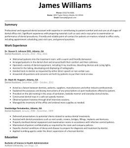 Dental assistant Resume Template Microsoft Word - 23 Dental assistant Resume
