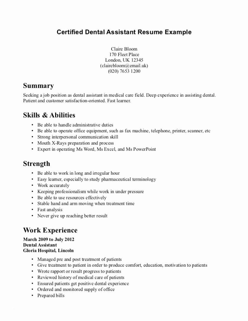 dental assistant resume template microsoft word Collection-Dental Hygiene Resume Templates Resume for Dental assistant Student New Dental Hygiene Resume 17-d