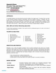 Digital Marketing Resume Template - Web Developer Resume Fresh Pr Resume Template Elegant Dictionary