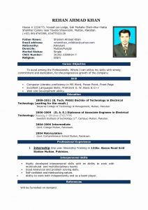 Electrical Resume Template - Web Designer Resume Word format Inspirational Best Pr Resume