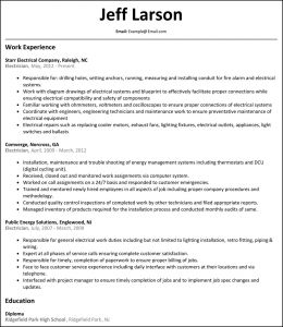 Electrician Resume Template Microsoft Word - Resume Electrician Resume Sample Template Electrical Engineer