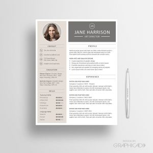 Etsy Resume Template - Resume Template Cv Template and Cover Letter Instant Download by