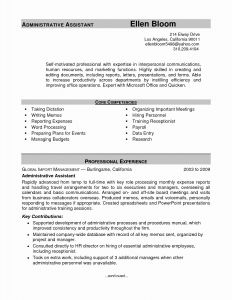 Executive assistant Resume Template Word - Executive assistant Resume Fresh Resume Template Executive assistant