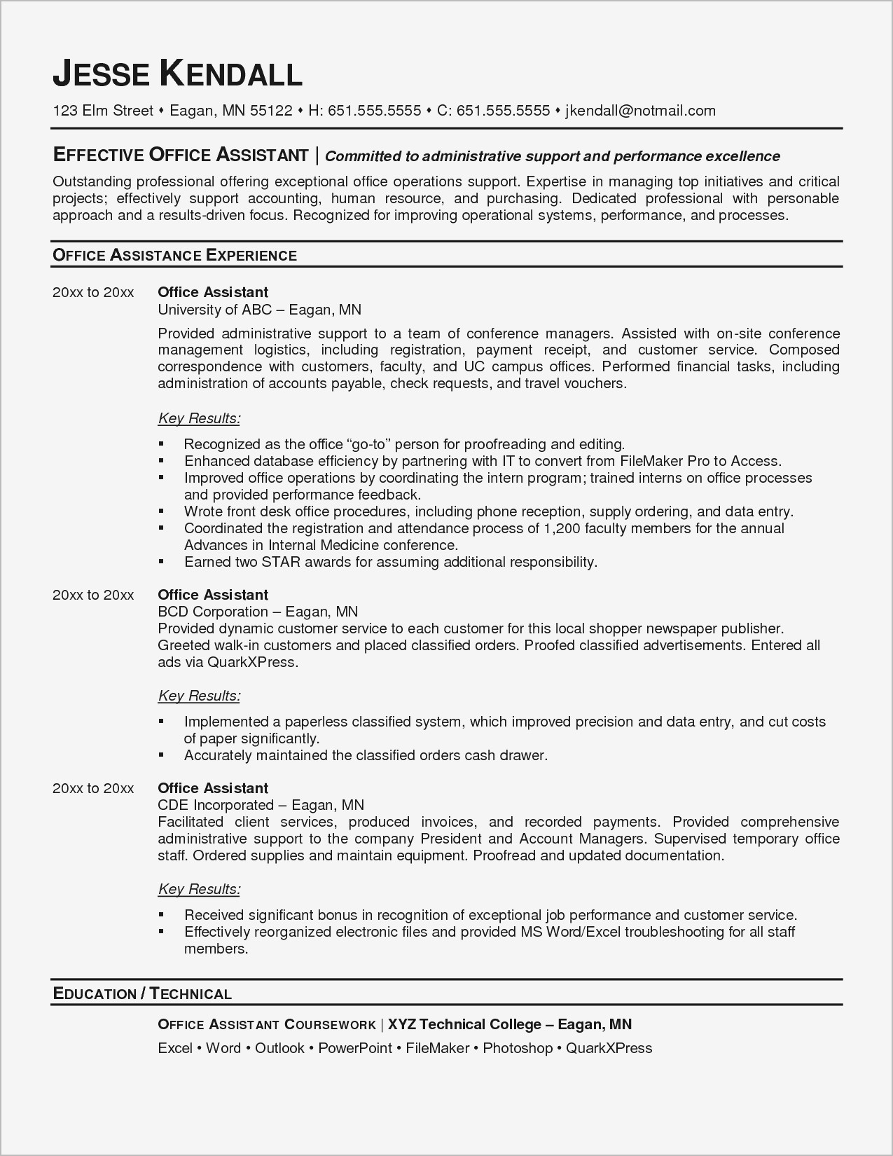 9 Executive assistant Resume Template